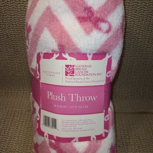 💙 NEW ** Breast Cancer Awareness Blanket